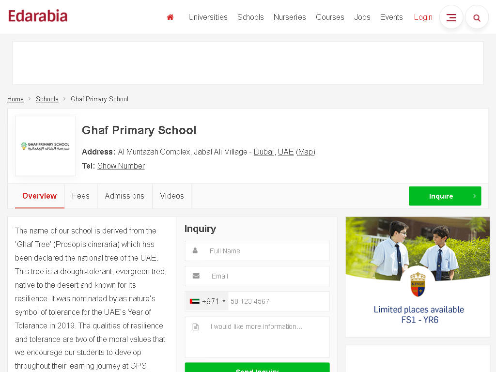 Ghaf Primary School - EDArabia Review