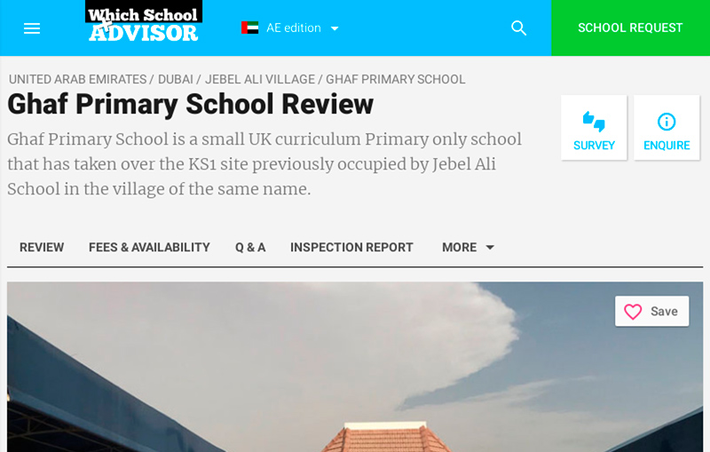 Ghaf Primary School - Which School Advisor Review
